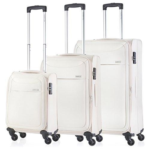 CarryOn Air Weicher TSA Gepäckset Kofferset 3-teilige Trolleyset (champagner) (Gefüttert-gepäck-set Leicht)