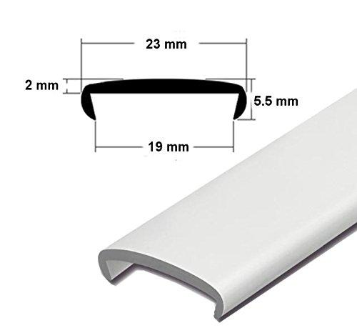 EUTRAS Softkante KSO6001 WEISS 19 mm Stoßkante Schutzkante Kantenschutz: 3 m
