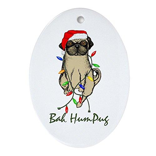 CafePress-Bah HUMPUG Christmas Schmuck Hund (Oval)-oval Urlaub Weihnachten Ornament -