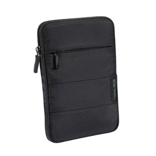 PEDEA Tablet PC Tasche 'Just Black' für 7 Zoll (17,8cm) Tablet Schutzhülle Tasche Etui Case mit Zubehörfach, schwarz
