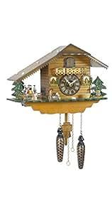 allemand horloge coucou de la for t noire avec mouvemente quartz style chalet 25 cm. Black Bedroom Furniture Sets. Home Design Ideas