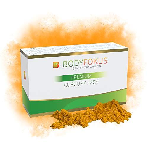BodyFokus Premium Curcuma 185X - Hochdosierter Kurkuma-Extrakt - Mizellentechnologie