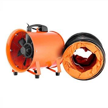 Mophorn Ventilador Profesional para Construcción 0.45HP Ventilador de Piso Industrial 220 V...