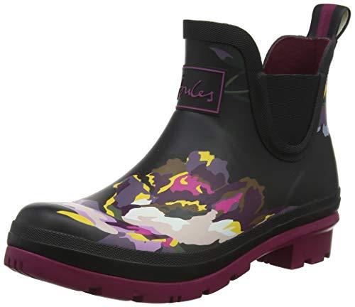 Joules Women's Wellibob Wellington Boots, Black (Black Floral Blk Floral), 5 UK (38 EU)