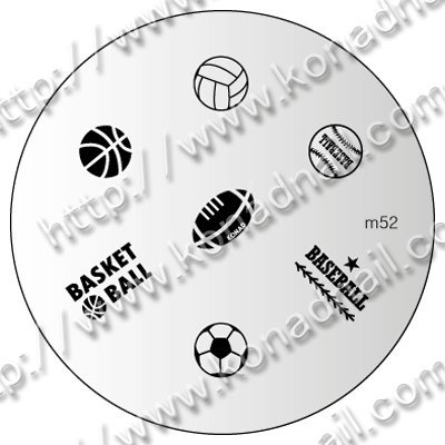 stampingschablone M52 Football Football de Konad – Cute Nails