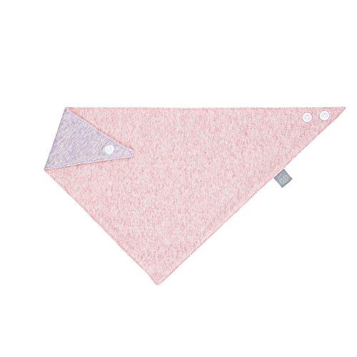 LÄSSIG Baby Kinder Muslin Bandana Lätzchen Baumwolle Druckknopf saugfähig doppellagig beidseitig tragbar/Bandana mélange, rosa