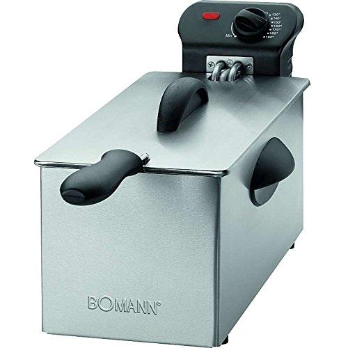 elektrische Fritteuse aus Edelstahl Kaltzonen Friteuse Frittieren Oel Kapazität ca. 3 Liter (leistungsstarke 2000 Watt + herausnehmbarer Fettbehälter)