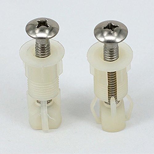 2PCS WC-Sitz Top Befestigungen, Universal Pack WC Sackloch Schrauben Blindsteckmutter einfach zu installieren
