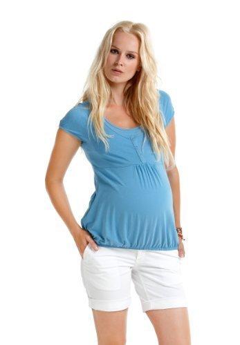 Christoff Shorts BINZ- pantacourt Femmes vêtements de maternité Maternité Shorts 188/53 Blanc (Blanc)