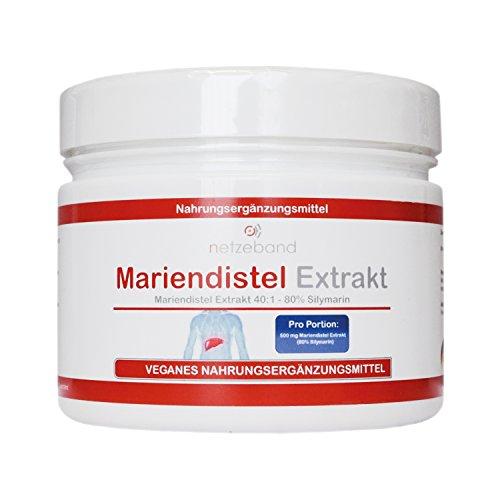 Mariendistel Extrakt Pulver 250g - 80% Silymarin - frei von Trennmitteln und Füllstoffen - Detox durch Silymarin