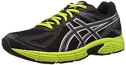 Asics Mens Patriot 7 Black, Lime and Onyx Mesh Running Shoes - 10 UK