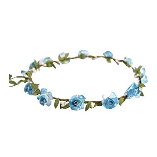 ladies-floral-flower-festival-wedding-hair-garland-flower-crown-head-band-9-colours-turquoise