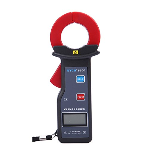 Multímetro Amperimetrica Digital, Medidor de pinza digital de alta precisión de 0 a 300 A Medición de corriente de fuga con RS232 Interfaz 500 almacenamiento de datos ETCR6500 Clamp Meter