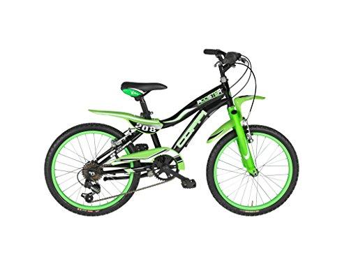 Coppi bici da ragazzo Rooster 20, Nero/verde