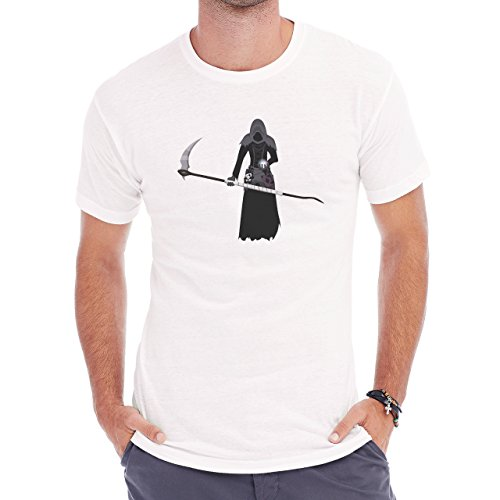 Reaper Death Black Skull Bunny Herren T-Shirt Weiß