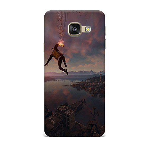 Samsung A5 2016 Case, Samsung A5 2016 Hard Protective SLIM Printed Cover [Shock Resistant Hard Back Cover Case] for Samsung A5 2016 - Infamous Second Son Smoke Ability City View  available at amazon for Rs.299