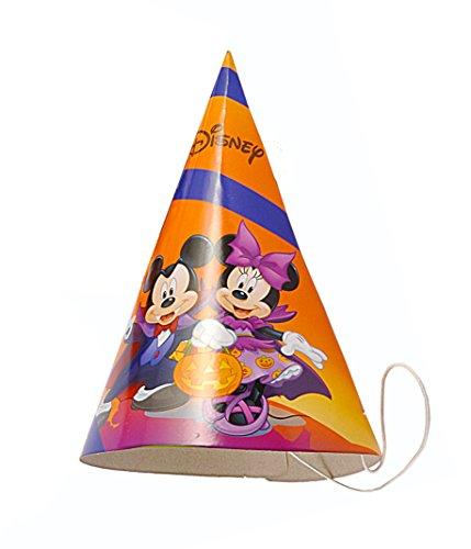 Ciao 29148–Packung 6Partyhütchen Konus Papier Halloween Disney Mickey und Minnie, Orange