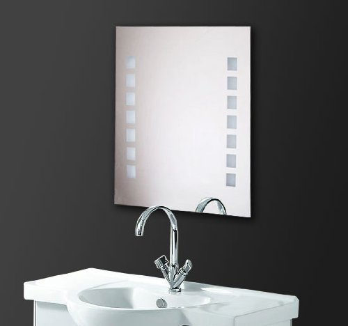 Miroir Lumineux LED de Salle de Bain Homcom