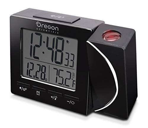 Oregon Scientific RM512P-BK Sveglia con Proiezione, Nero, 100 x 25 x 75mm