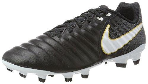 Nike Tiempo Ligera IV FG, Scarpe da Calcio Uomo, Nero White-Black 002, 38.5 EU