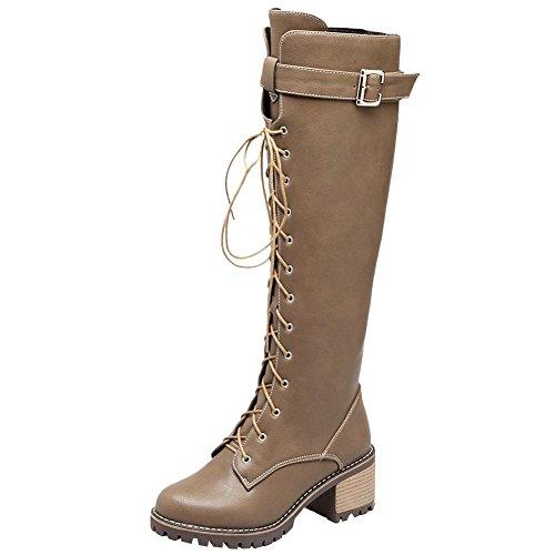 MissSaSa Donna Stivali col Tacco Punk Moda Boots (38, Nero)