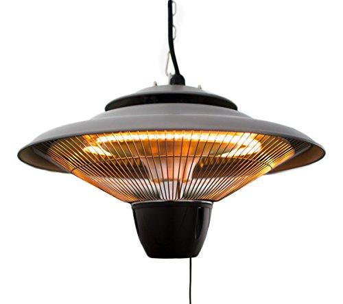 Firefly 1.500 Watt Infrarot-Heizstrahler (Halogen) Terrassenheizung, Deckenmontage (Silber) - 3