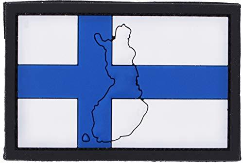 101 INC Parche De PVC Bandera del País 7 x 5 cm