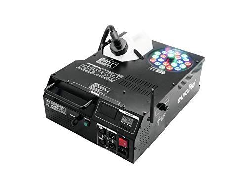 eurolite freedmx Eurolite NSF-350 LED Hybrid Spray Fogger | DMX-Nebelmaschine mit 1500 W, LED-Beleuchtung, senk-/waagerechtem Ausstoß | LED-Lichteffekt und Nebelgeysir in einem Gerät | W-LAN
