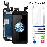 "BuTure Para Pantalla iPhone 6S, 4.7"" Negro Pantalla Táctil LCD con Cámara Frontal,Sensor de proximidad,Altavoz, ensamblaje de Marco digitalizador y Kit de reparación"