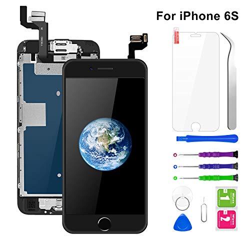 BuTure Pantalla para iPhone 6S Negro 4.7