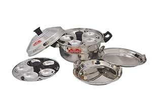 Aristo Idli & Dhokla Steamer(2 Idli & 2 Dhokla Plates)