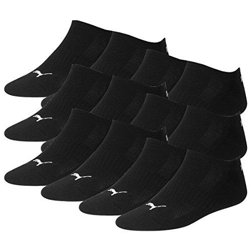 PUMA Unisex Cushioned Sneakers Socken Sportsocken mit Frotteesohle 12er Pack black 200 - 43/46 -
