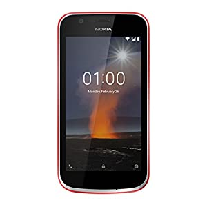 Nokia 1 UK SIM-Free Smartphone - Warm Red