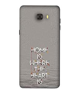 FUSON Designer Back Case Cover for Samsung Galaxy C7 Pro (Taste quote design Nice quote design Silver color background design Good quotes design Bold lettering design)