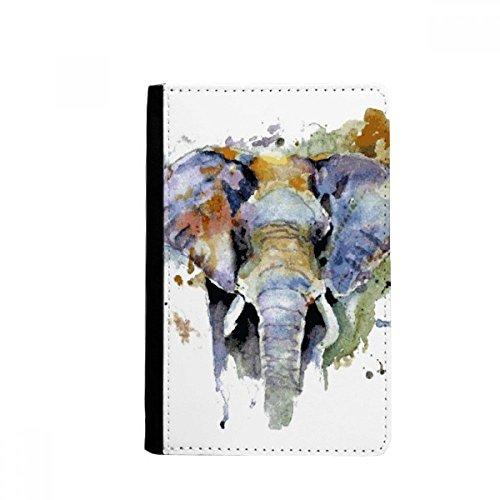 beatChong Elefante Personalidad Pintada Animales Monedero De La Tarjeta Caso De La Cubierta Cartera De Viaje De Pasaporte