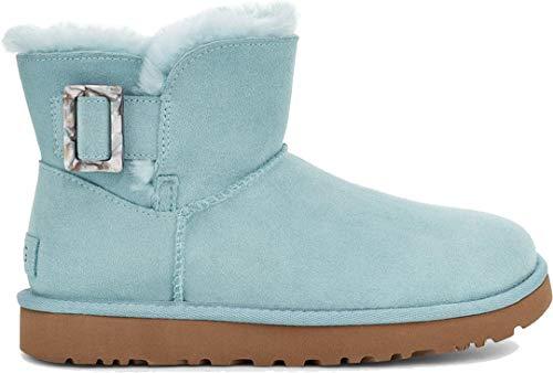 UGG Bailey Fashion Buckle Boot - Botas para Mujer, Color Gris Claro, Color Azul, Talla 40 EU