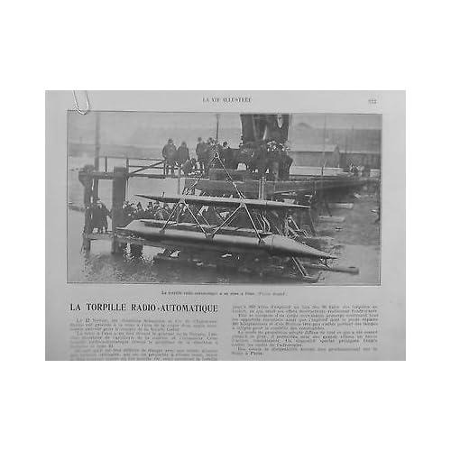 1909 VI2 TORPILLE RADIO AUTOMATIQUE MISE EAU CHANTIER SCHNEIDER GAL DE LA ROQUE