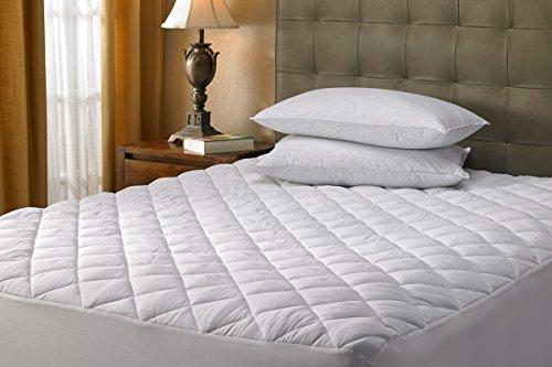 Funda acolchada para colchón de 40 cm de grosor, con remate elástico para un ajuste seguro., Protector acolchado de colchón, matrimonio grande