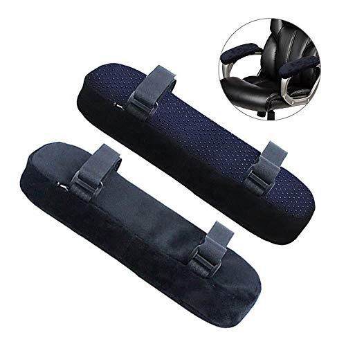 Schaum-stuhl-pad (Womdee Ergonomische Armlehnenpolster aus Memory-Schaum, bequemes Bürostuhl-Armkissen mit abnehmbarem Bezug, Universal-Armlehnenbezüge für Zuhause oder Büro und Rollstuhl-Armlehnen, 2 Packungen)
