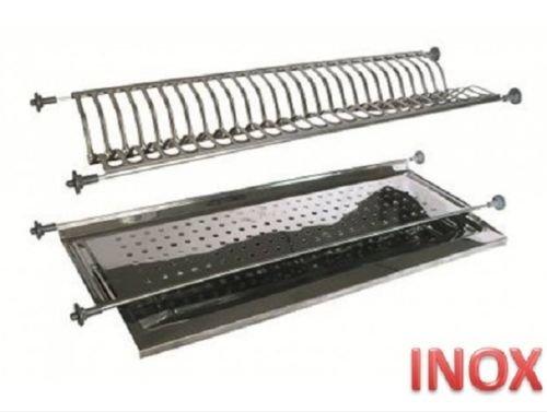 INOX Égouttoir à encastrer avec culot à Ressorts de 56 ML Acier Inoxydable fabriqué en Italie