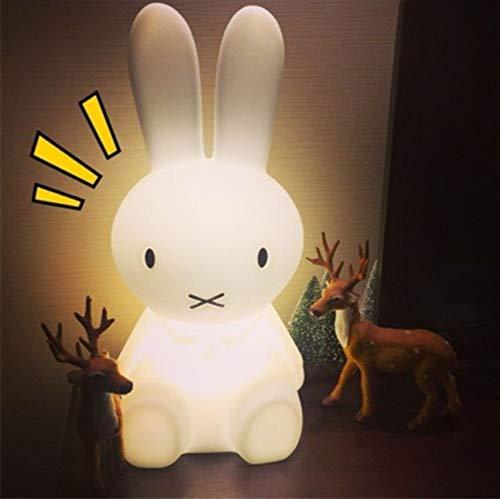 50cm lapin led nuit lumière dimmable pour bébé enfants cadeau animal de bande dessinée bureau table lampe chambre chevet bébé jouet lumière