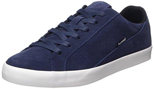 Hummel Unisex-Erwachsene Cross Court Suede Sneaker, Blau (Peacoat), 40 EU -