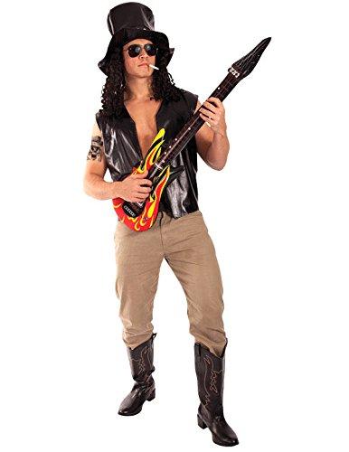 Rockband Gitarrist Kostüm Karneval Fasching Herren Verkleidung Mottoparty