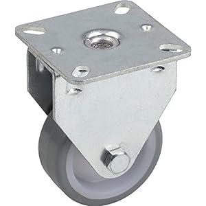 Metafranc Bockrolle Ø 50 mm - 60 x 60 mm Platte - Polyurethan-Rad - Weiche Lauffläche - Gleitlager - 65 kg Tragkraft / Transportrolle / Möbelrolle / Schwerlastrolle / 802860