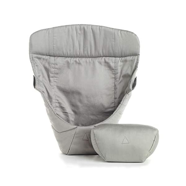 ERGObaby Infant insert for Baby Carrier Collection Original (3.2 - 5.kg), Cotton Grey Ergobaby Specially shaped pillow for supporting newborns in the frog-leg position Soft back panel for keeping baby's back slightly rounded in the carrier Head and neck support 1