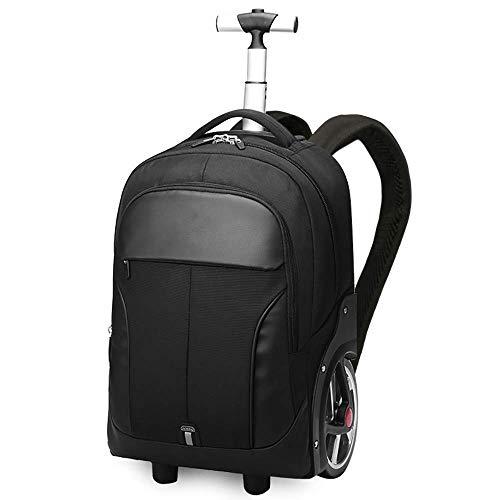 LMDB Freilaufender Laptop-Rucksack mit Rollen, Rolling-Laptop-Tasche, Business-Rucksack, Reiserucksack, Handgepäck-Rucksack für Männer und Frauen, Schwarz (Frauen Rolling Laptop Tasche)