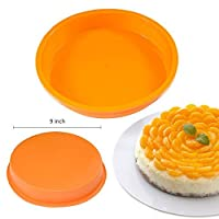 """2win2buy 9"""" Round Silicone Cake Mold Pan Muffin Chocolate Pizza Pastry Baking Tray Mould"""