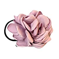 SELUXU Fashion Artificial Camellias Rose Hair Rope Ties Girls Elastic Band Hair Jewelry Hair Accessories