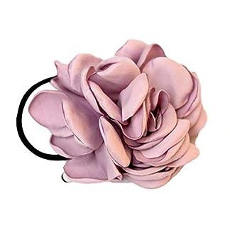 BESTEU Moda Artificial Camellias Rose Cuerda de Pelo Lazos Banda elástica Joyería del Pelo Accesorios para el Cabello