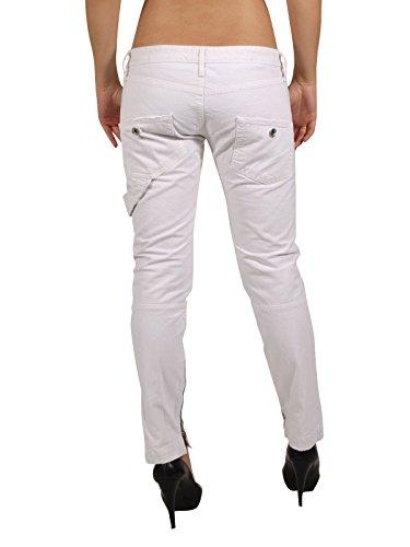 FORNARINA Damen Jeans Hose MAYER DENIM in weiß Weiß